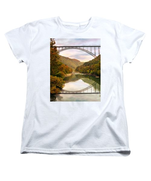 New River Gorge Bridge Women's T-Shirt (Standard Cut) by Mary Almond
