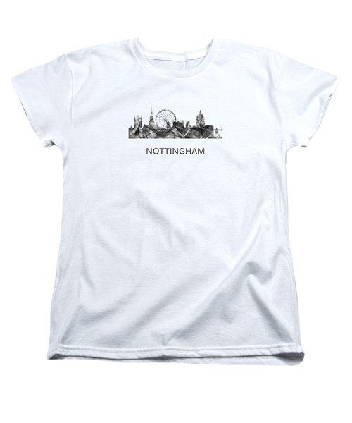Nottingham England Skyline Women's T-Shirt (Standard Fit)