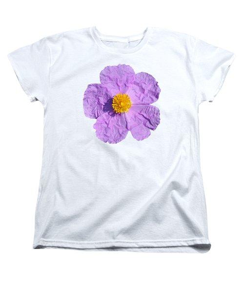 Women's T-Shirt (Standard Cut) featuring the photograph Rockrose Flower by George Atsametakis