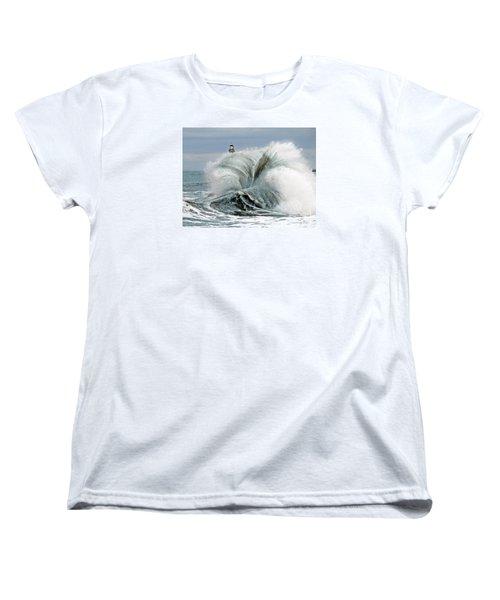 Women's T-Shirt (Standard Cut) featuring the photograph Roker Pier Sunderland by Morag Bates