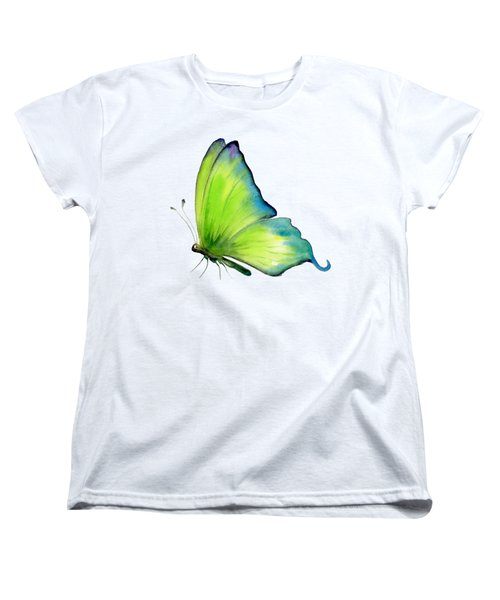 4 Skip Green Butterfly Women's T-Shirt (Standard Cut)