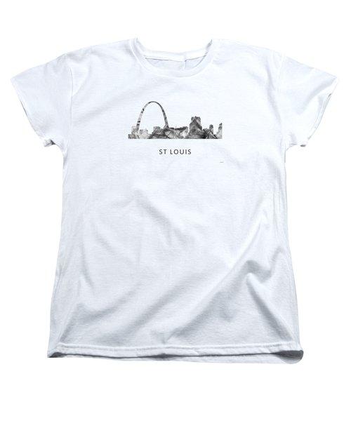 St Louis Missouri Skyline Women's T-Shirt (Standard Cut) by Marlene Watson