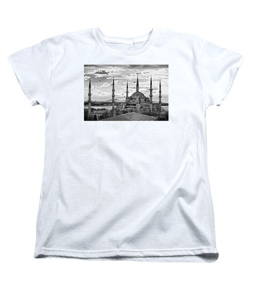 The Blue Mosque - Istanbul Women's T-Shirt (Standard Cut) by Luciano Mortula