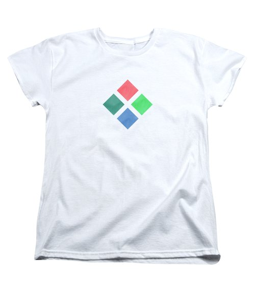 Watercolor Geometric Background Women's T-Shirt (Standard Fit)