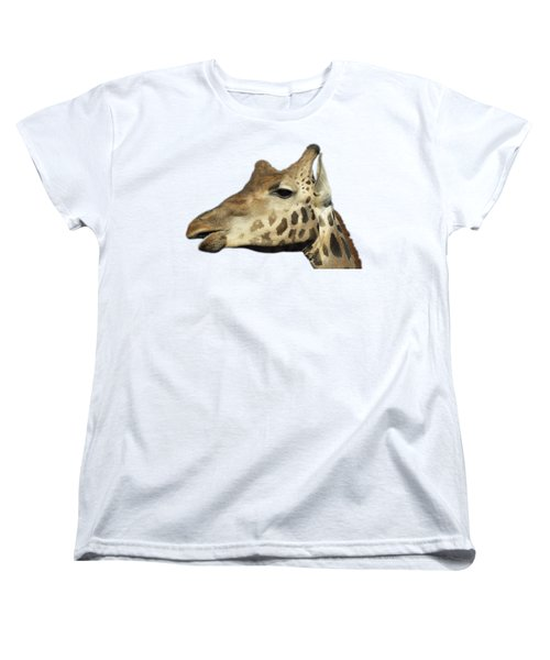 Women's T-Shirt (Standard Cut) featuring the photograph Baringo Giraffe by George Atsametakis