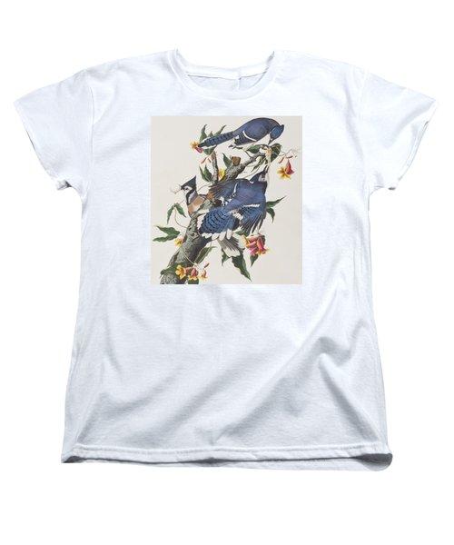 Blue Jay Women's T-Shirt (Standard Cut) by John James Audubon