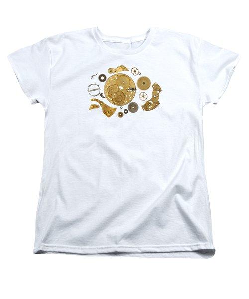 Women's T-Shirt (Standard Cut) featuring the photograph Clockwork Mechanism by Michal Boubin
