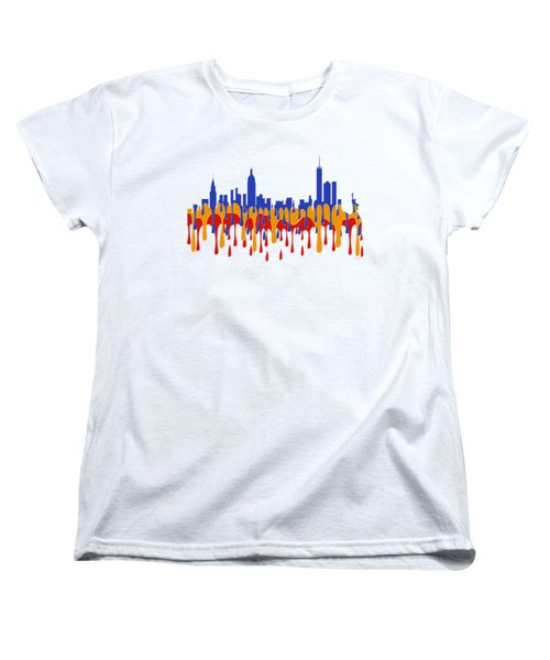 New York Ny Skyline Women's T-Shirt (Standard Cut) by Marlene Watson
