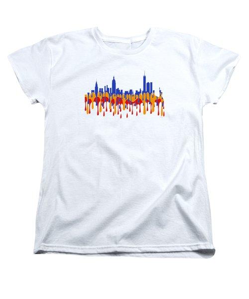 New York Ny Skyline Women's T-Shirt (Standard Cut)