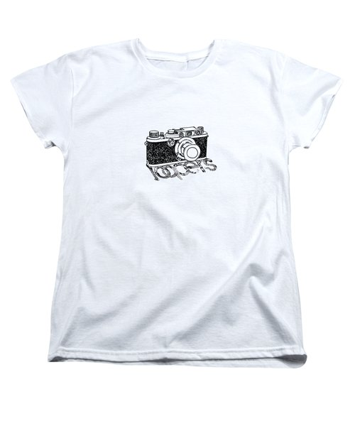 Women's T-Shirt (Standard Cut) featuring the painting Rangefinder Camera by Setsiri Silapasuwanchai