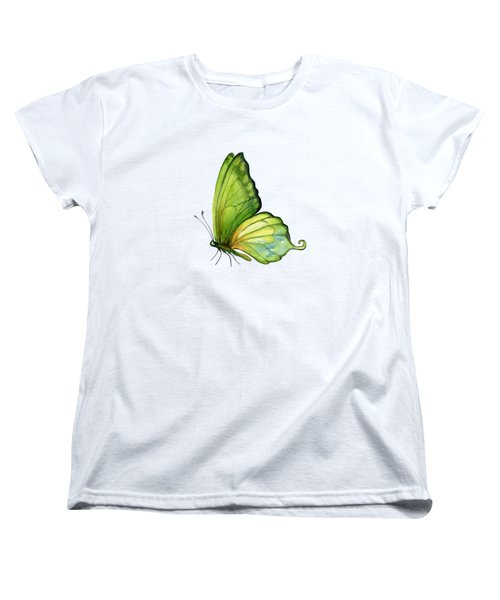 5 Sap Green Butterfly Women's T-Shirt (Standard Cut) by Amy Kirkpatrick
