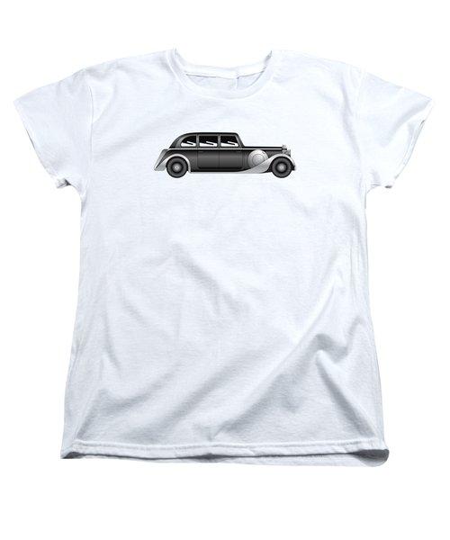 Sedan - Vintage Model Of Car Women's T-Shirt (Standard Cut) by Michal Boubin