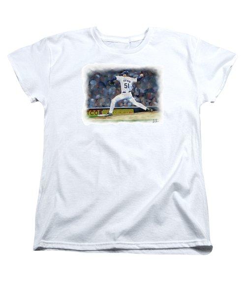 Trevor Hoffman Women's T-Shirt (Standard Cut) by Don Olea