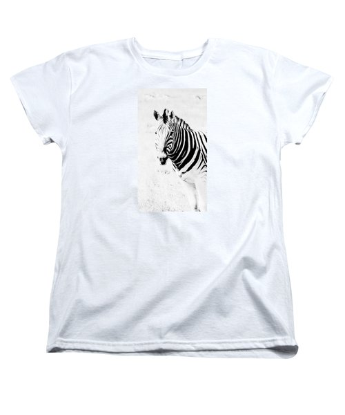 Women's T-Shirt (Standard Cut) featuring the photograph Zebra Art by Werner Lehmann