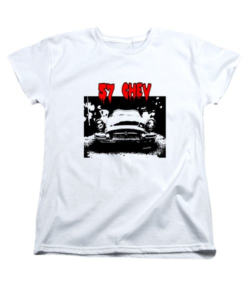 57 Chev Women's T-Shirt (Standard Cut) by Kim Gauge