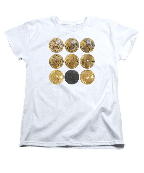 Clockwork Mechanism Women's T-Shirt (Standard Cut) by Michal Boubin