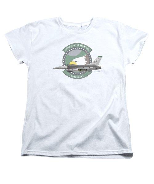 Lockheed Martin F-16c Viper Women's T-Shirt (Standard Cut) by Arthur Eggers