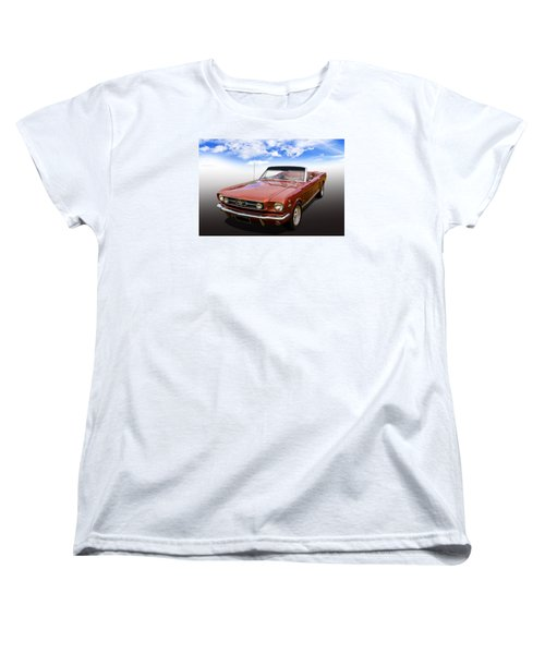 Women's T-Shirt (Standard Cut) featuring the photograph 65 Mustang by Keith Hawley