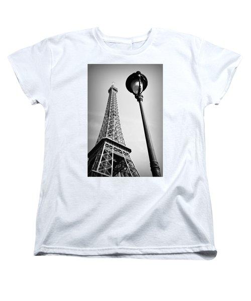 Eiffel Tower Women's T-Shirt (Standard Cut) by Chevy Fleet