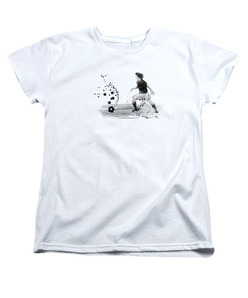 Football Player Women's T-Shirt (Standard Cut) by Marlene Watson