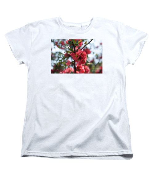 Tree Blossoms Women's T-Shirt (Standard Cut) by Elvira Ladocki