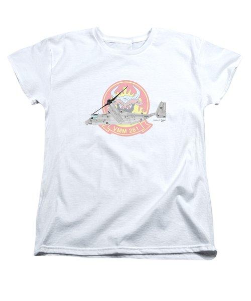 Bell Boeing Mv-22b Osprey Women's T-Shirt (Standard Cut) by Arthur Eggers