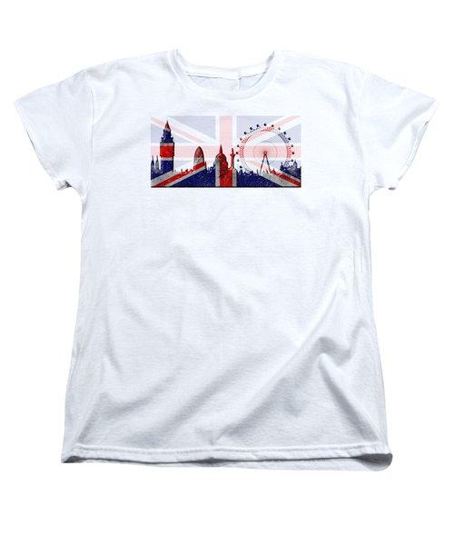 London Skyline Women's T-Shirt (Standard Cut) by Michal Boubin