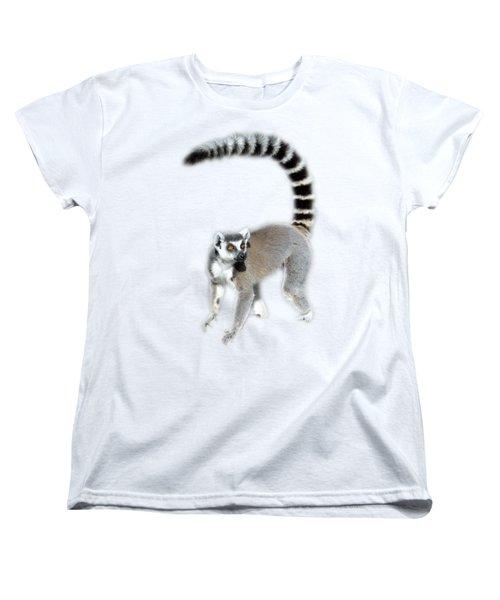 Women's T-Shirt (Standard Cut) featuring the photograph Ring Tailed Lemur by George Atsametakis