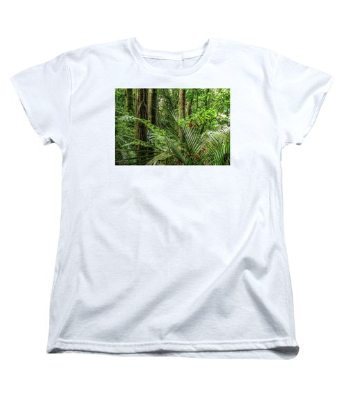 Women's T-Shirt (Standard Cut) featuring the photograph Tropical Jungle by Les Cunliffe