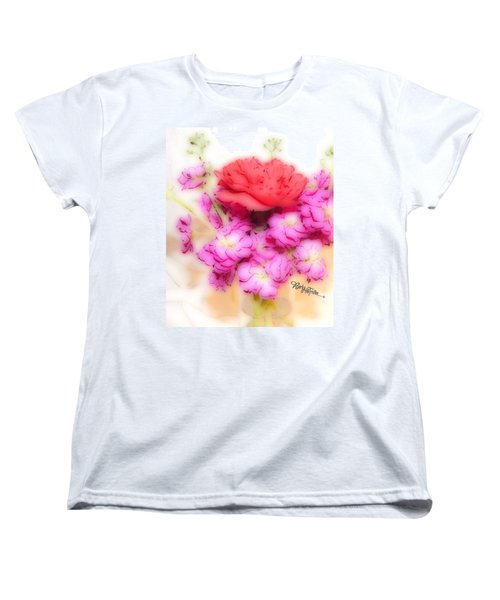 #8742 Soft Flowers Women's T-Shirt (Standard Cut) by Barbara Tristan