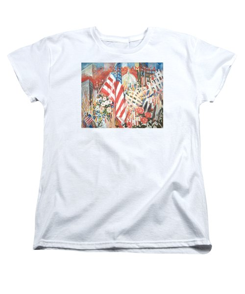 9-11 Attack Women's T-Shirt (Standard Cut) by Alexandra Maria Ethlyn Cheshire