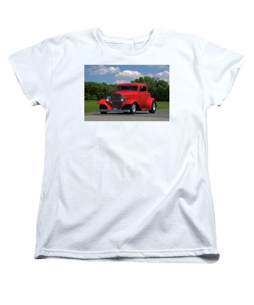 1932 Ford Coupe Hot Rod Women's T-Shirt (Standard Cut) by Tim McCullough