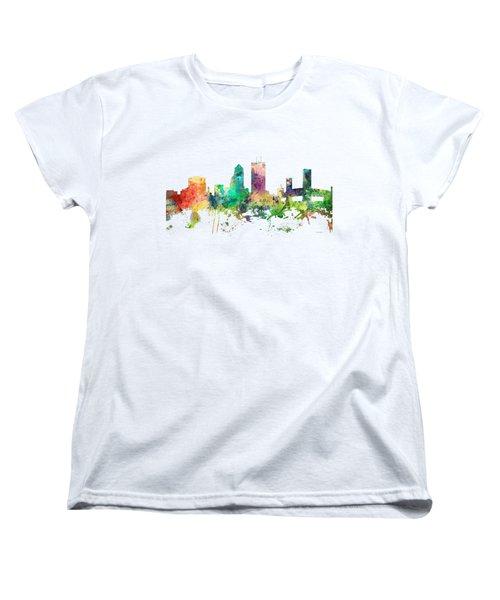 Jacksonville Florida Skyline Women's T-Shirt (Standard Cut)