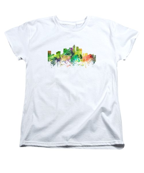 Los Angeles California Skyline Women's T-Shirt (Standard Cut) by Marlene Watson