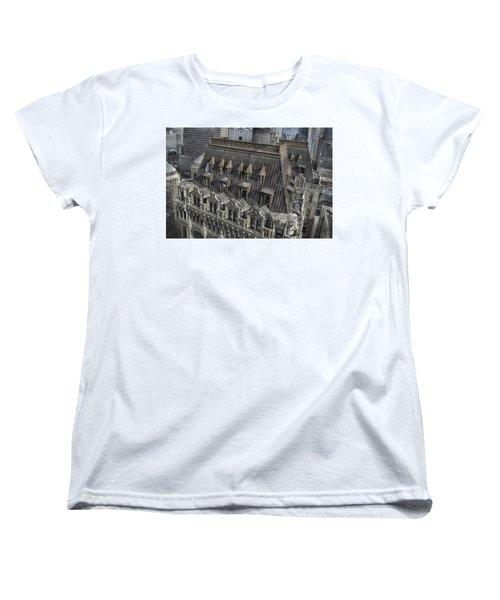 90 West - West Street Building Women's T-Shirt (Standard Cut) by Dyle Warren