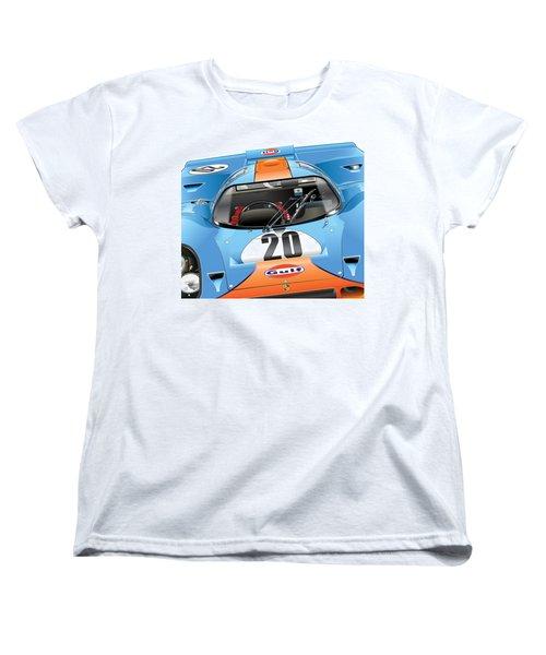 Porsche 917 Illustration Women's T-Shirt (Standard Cut) by Alain Jamar