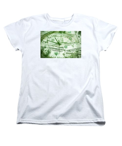 Women's T-Shirt (Standard Cut) featuring the photograph Time Is Money  by Les Cunliffe