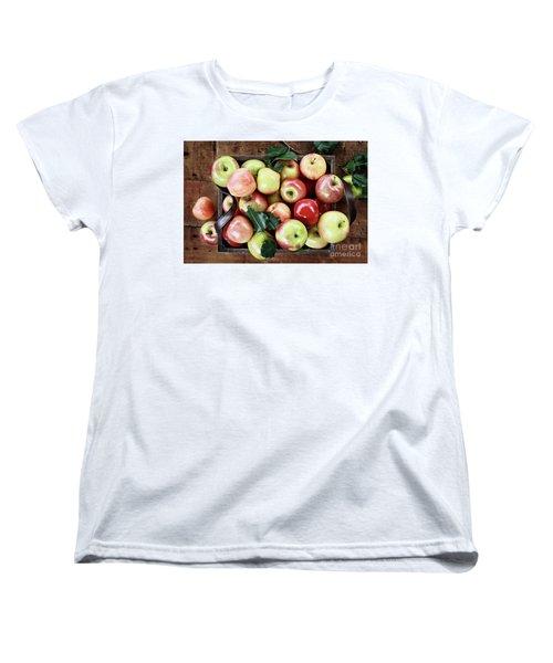 Women's T-Shirt (Standard Cut) featuring the photograph A Bushel Of Apples  by Stephanie Frey