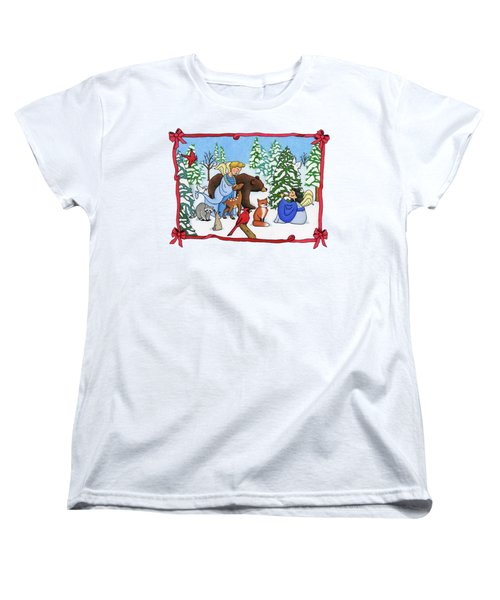 A Christmas Scene 2 Women's T-Shirt (Standard Cut) by Sarah Batalka