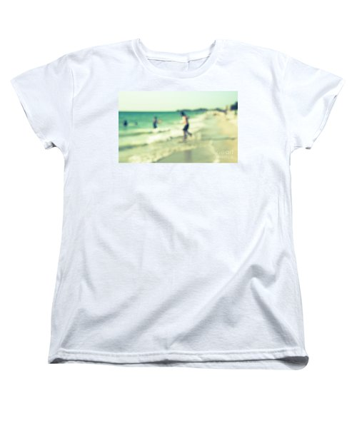 Women's T-Shirt (Standard Cut) featuring the photograph a day at the beach III by Hannes Cmarits