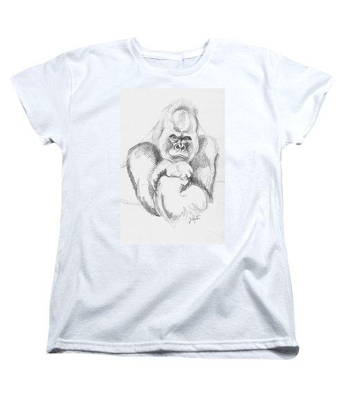 A Friendly Gorilla Women's T-Shirt (Standard Cut) by John Keaton