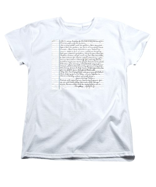 Women's T-Shirt (Standard Cut) featuring the photograph A Mothers Last Words To Her Son Me by Paul SEQUENCE Ferguson             sequence dot net