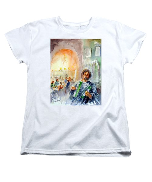 Women's T-Shirt (Standard Cut) featuring the painting A Night At The Tavern by Faruk Koksal