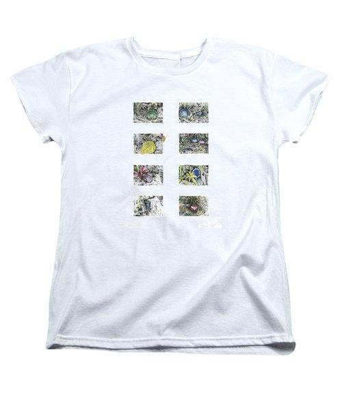 A Potters Garden Women's T-Shirt (Standard Cut) by Kerryn Madsen-Pietsch