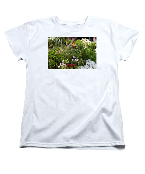 A Riot Of Flowers Women's T-Shirt (Standard Cut) by Lorraine Devon Wilke