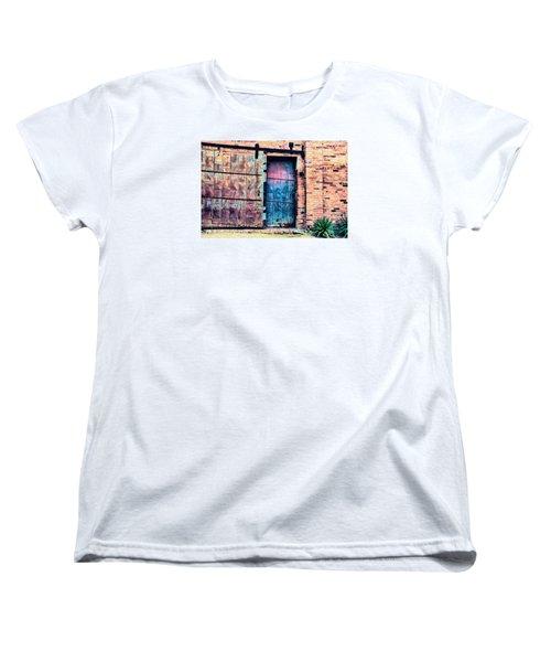 A Rusty Loading Dock Door Women's T-Shirt (Standard Cut) by Diana Mary Sharpton