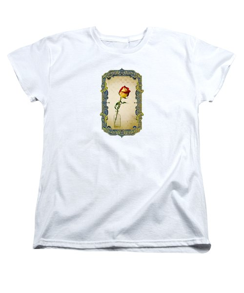 A Single Rose Women's T-Shirt (Standard Cut) by Larry Bishop