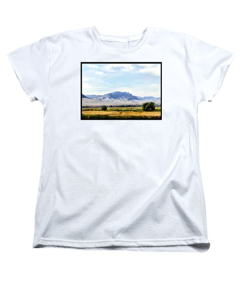 Women's T-Shirt (Standard Cut) featuring the painting A Sleeping Giant by Susan Kinney