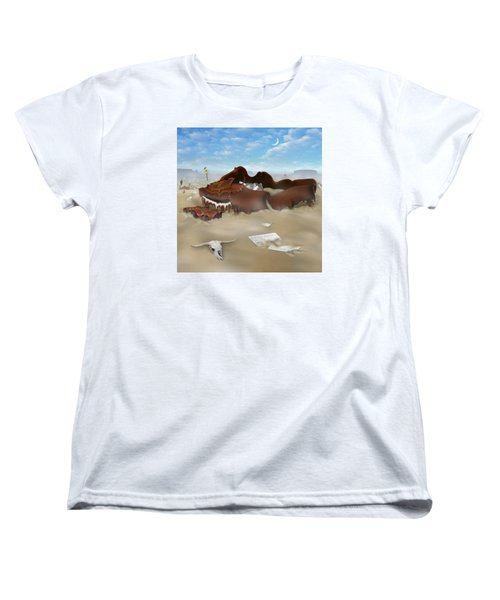 A Slow Death In Piano Valley Sq Women's T-Shirt (Standard Cut) by Mike McGlothlen