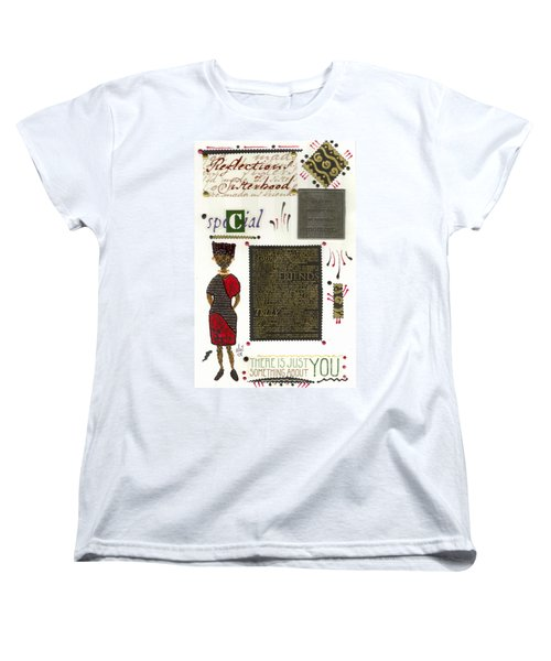 Women's T-Shirt (Standard Cut) featuring the mixed media A Special Friend by Angela L Walker